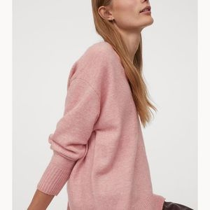 H&M Ribbed Sweater top pink